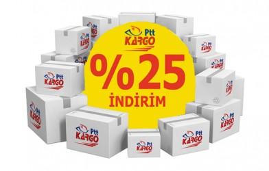 PTT'DEN KARGODA  % 25 iNDiRiM