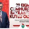 VALİ CUMHURİYET BAYRAMINI KUTLADI