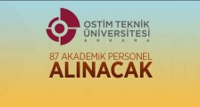 OSTİM TEKNİK ÜNİVERSİTESİ 87 AKADEMİK PERSONEL ALACAK