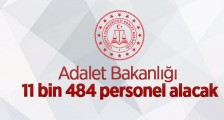 ADALET BAKANLIĞI 11484 PERSONEL ALACAK