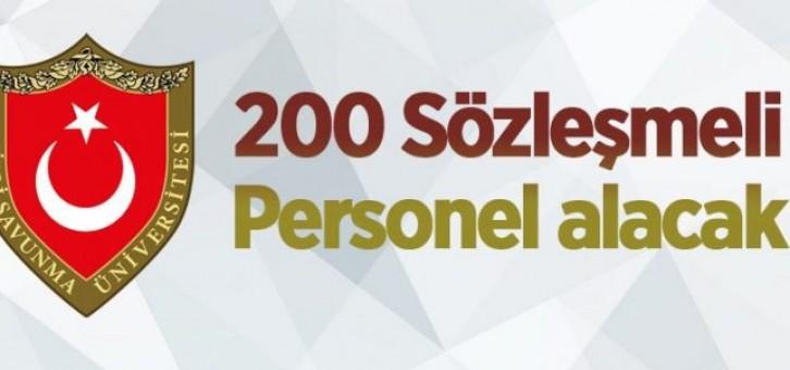 MİLLİ SAVUNMA ÜNİVERSİTESİ 200 SÖZLEŞMELİ PERSONEL ALACAK