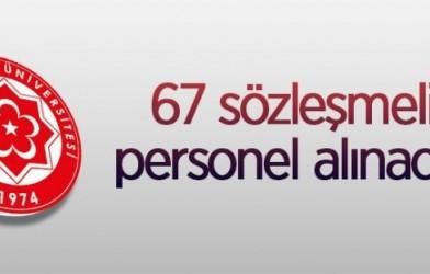 67 SÖZLEŞMELİ PERSONEL ALINACAK