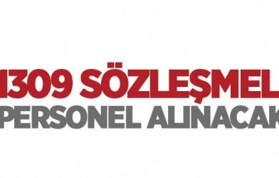 1309 SÖZLEŞMELİ PERSONEL ALINACAK