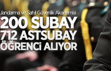 200 SUBAY, 712 ASTSUBAY ÖĞRENCİ ALINACAK