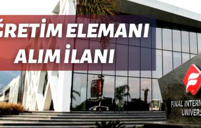ÖĞRETİM ELEMANI ALINACAK